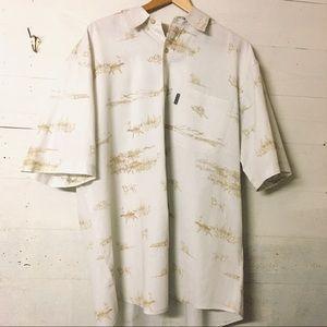 Woolrich Bird Dog Print Button Down Shirt